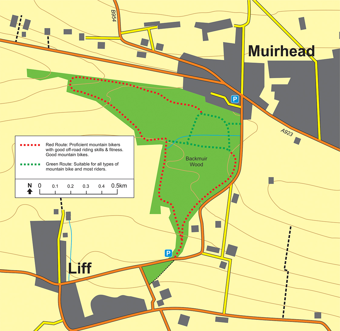 Backmuir Map