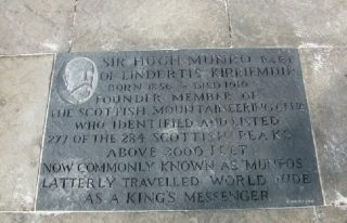 Engraved Paving at Cumberland Close, Kirriemuir