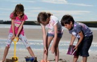 Montrose Beach kids playing.