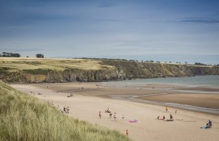 Lunan Bay beach, Angus