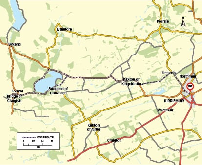 Cycle Route 01 - Peter Pan to Reekie Linn