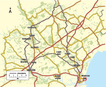 Cycle Route 02 - Montrose to Edzell