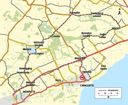 Cycle Route 08 - Carnoustie to Crombie Park