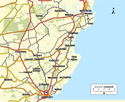 Cycle Route 09 - Arbroath to Montrose