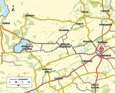 Cycle Route 15 - Kirriemuir to Loch of Lintrathen