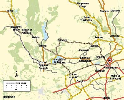 Cycle Route 17 - Kirriemuir to Glenisla
