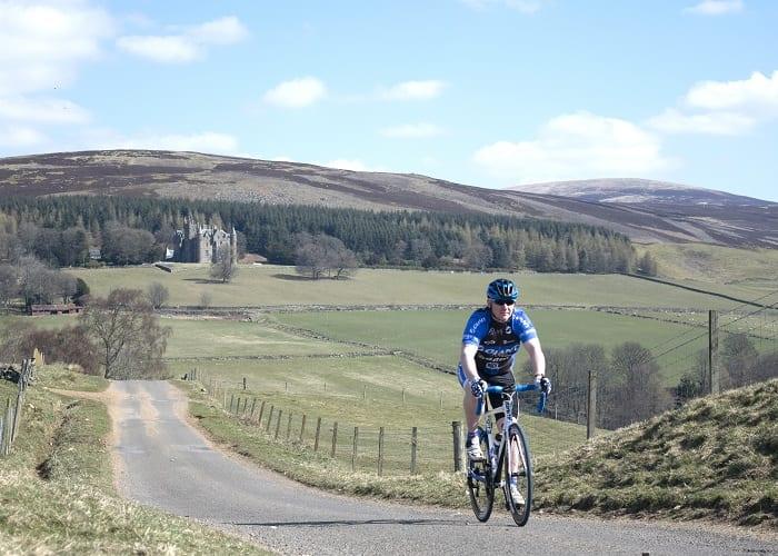 Cyclist at Balintore